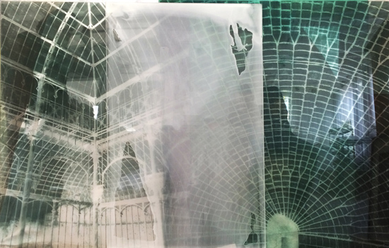 Botanical Residues (after the Great Glasshouse), 2005, duraclear, photographs on acrylic, 100 x 150 cm