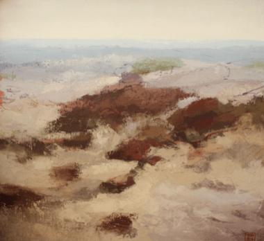 'Little World no 14', 2016, oil & beeswax on linen, 96 x 103 cm
