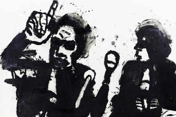 'Noising up', 2015, Graphite on paper, 136 x 156 cm, framed