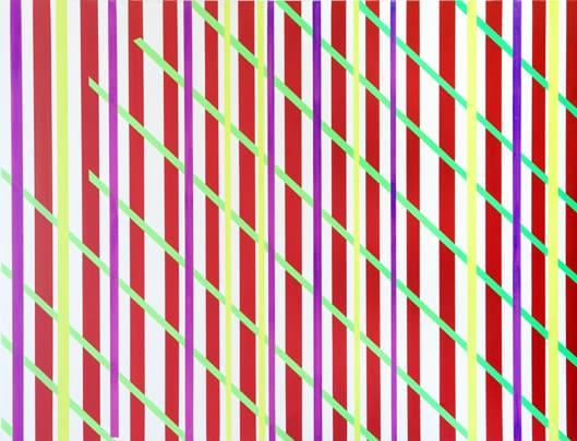 'Sliding weave (protest)', 2010, 100 x 130 cm, acrylic on canvas