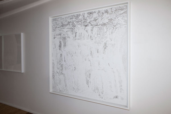 'Untitled (Waterfall)', 2003 Foil and acrylic on Canvas, 170 x 168 x 11 cm framed. Photo: Jamie North
