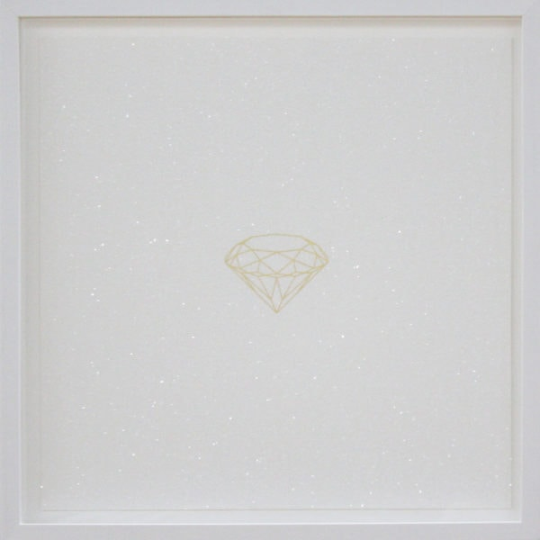 'Untitled', 2017, diamond dust, 24 carat gold leaf, framed 58 x 58 cm, edition of 5 + 1 a.p.