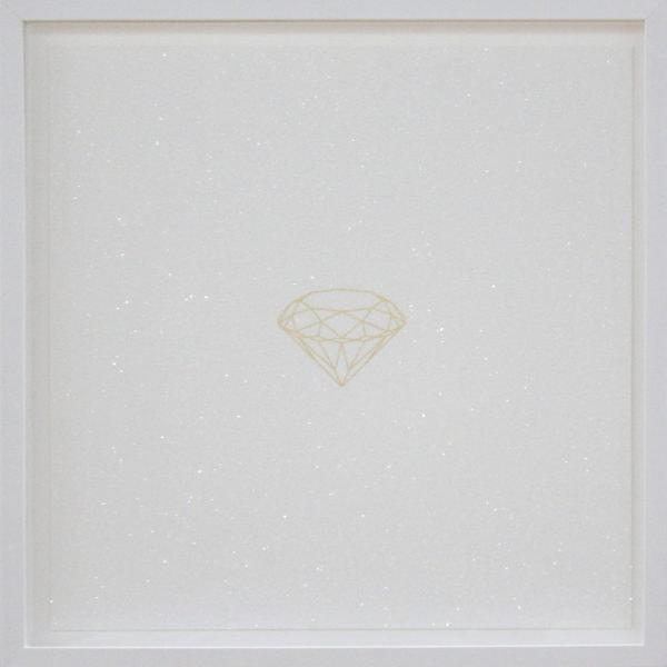 'Untitled', 2017, diamond dust, 24 carat gold leaf, framed 58 x 58 cm, edition of 5 + 1 a.p.