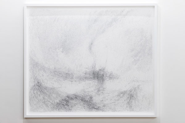 '17 seconds (2), 2016, Carborundum and diamond dust print, 109 x 129 cm, framed, edition of 5+ 1a.p. Photo: Jamie North