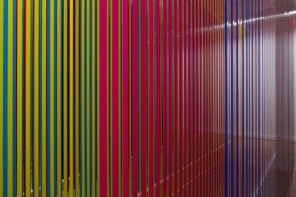 Liberty and Anarchy, 2012, plastic, acrylic, cable wire, 11 x 30 m