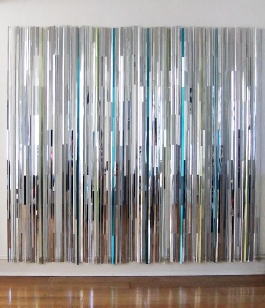 Silvery 2013, Polished aluminium, nylon wire, Dimensions Variable<br />