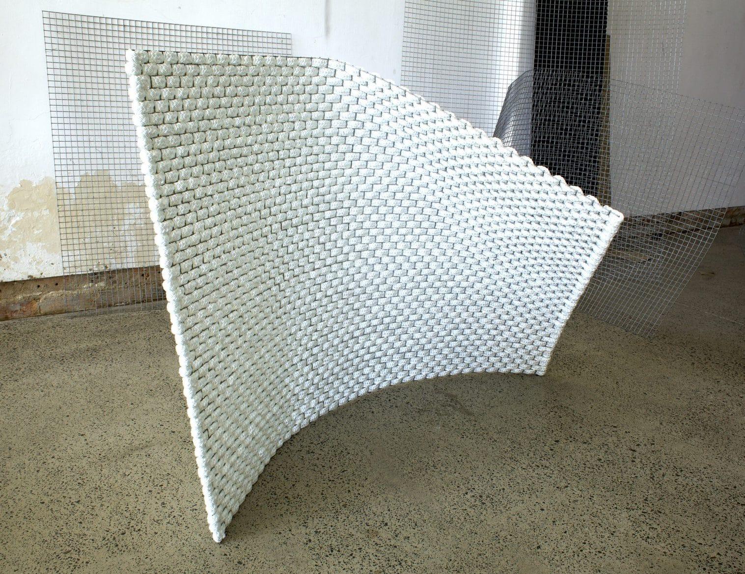 Fold, 2019, Polypropylene and steel, 160 x 110 x 120cm, POA