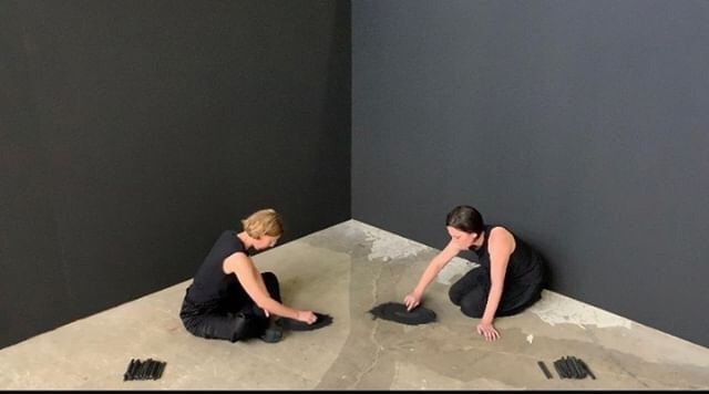 Emma Fielden, 'Andromeda and The Milky Way', 2019, performed by Emma Fielden and Lizzie Thomson at Parramatta Artists Studios Rydalmere, HD video documentation 5 hours 41 minutes