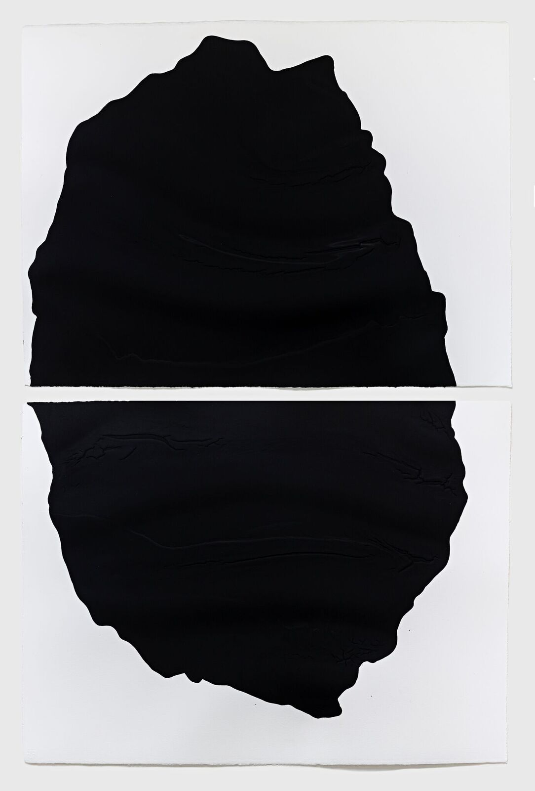 'Cleave', 2018, diptych, household acrylic on Saunders Waterford 425gsm paper, each 56 x 76 cm