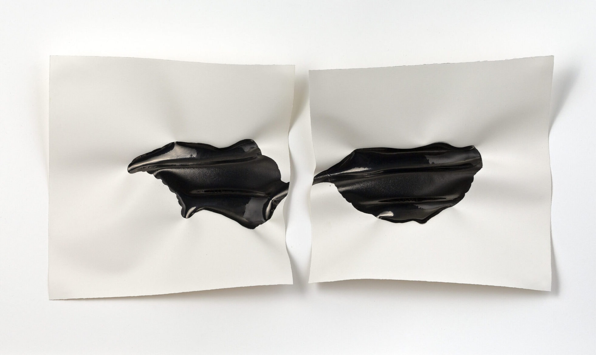 Emma Fielden, 'Confluence I', 2020, diptychs, ink on 300gsm Arches paper, framed, 74 x 45 cm