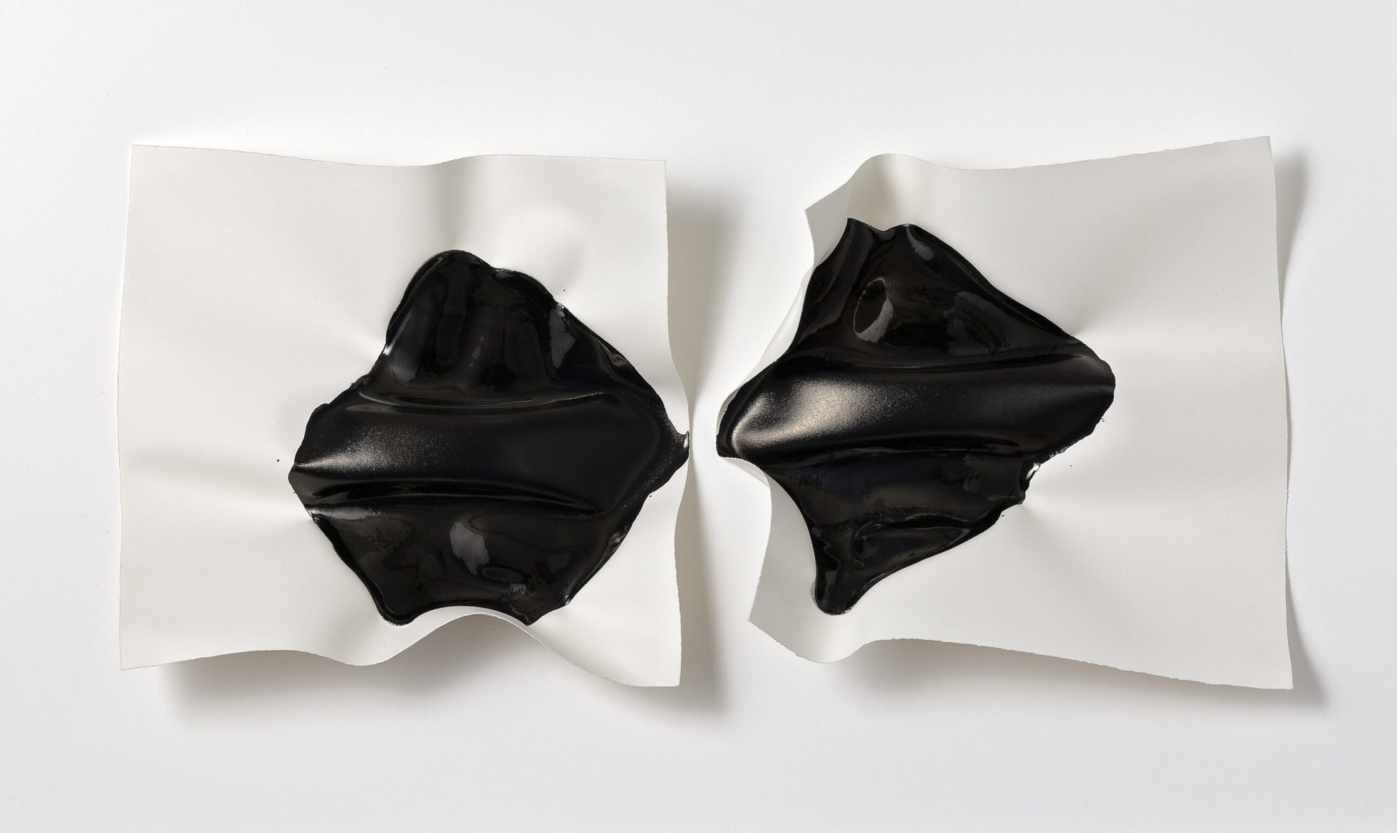 Emma Fielden, 'Confluence II', 2020, diptychs, ink on 300gsm Arches paper, framed, 74 x 45 cm
