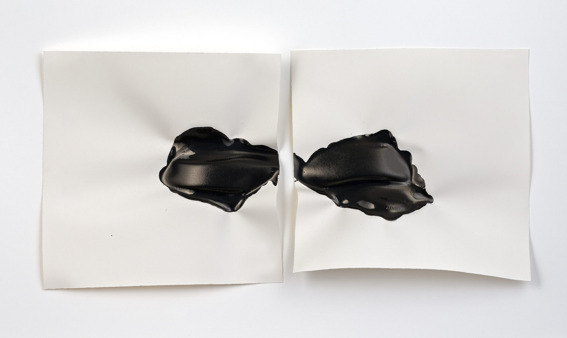Emma Fielden, 'Confluence III', 2020, diptychs, ink on 300gsm Arches paper, framed, 74 x 45 cm