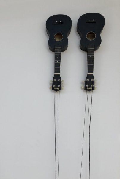 'Saraband',  2018,  ukuleles, string,  dimensions  variable, edition  of  5 + 1AP.
