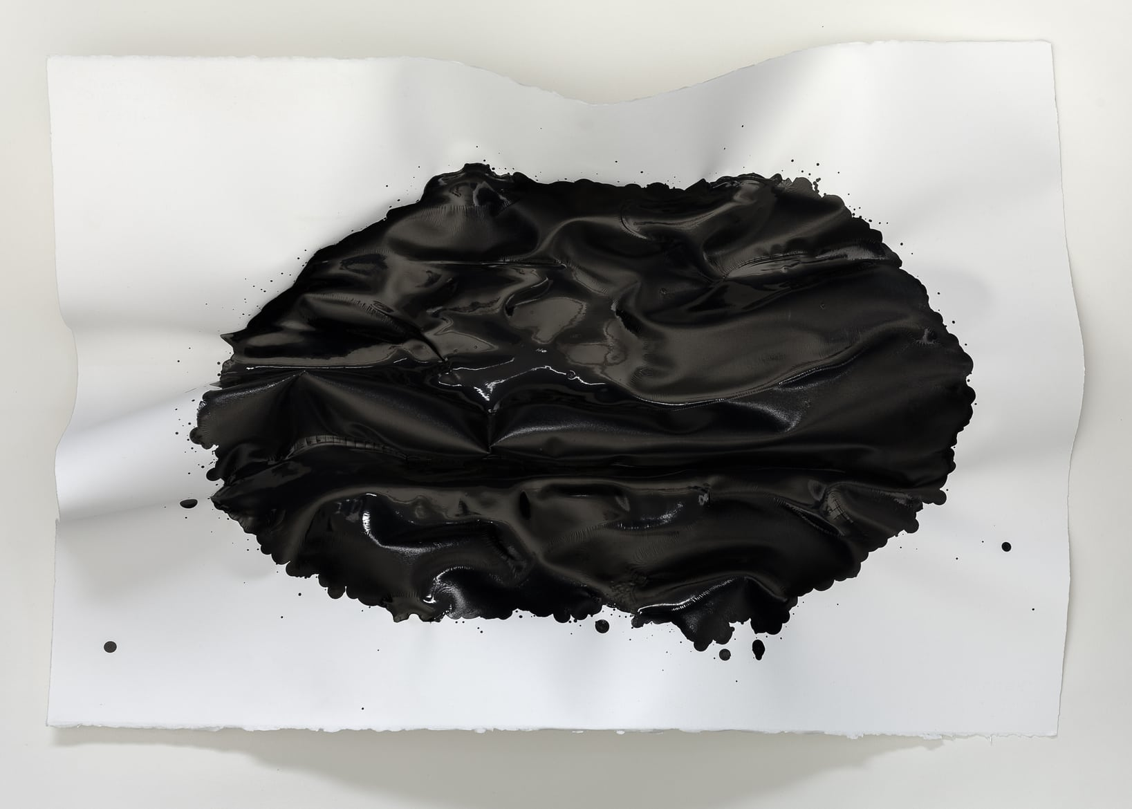 'Void  Studies  I', 2016,  ink  on  black  paper,  20  x  29  x  10cm.