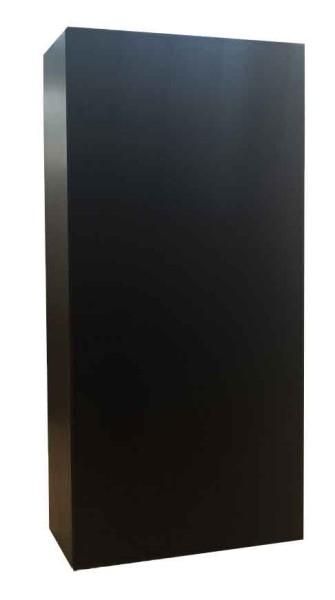 'Black', 2016, MDF, silk, amplifier, subwoofer speaker, 240 x 120 x 24 cm, edition of 6 + 1 AP