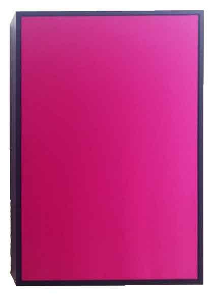 'Pink', 2016, MDF, silk, amplifier, subwoofer speaker, 120 x 80 x 24 cm, edition of 6 + 1 AP