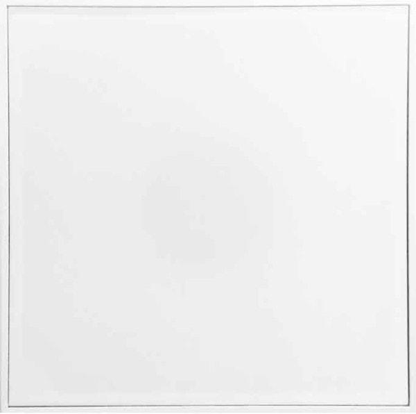 'White', 2016, MDF, silk, amplifier, subwoofer speaker, 120 x 120 x 24 cm, edition of 6 + 1