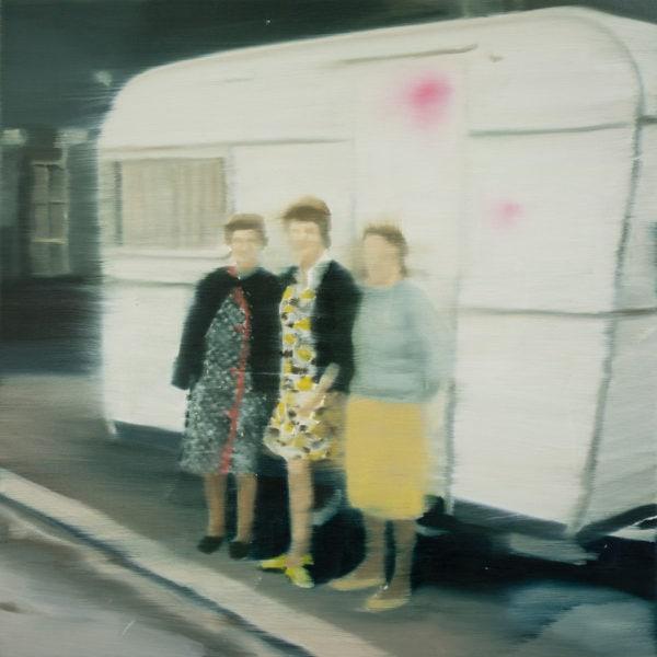 Girls Weekend Away', 2018, oil on linen, 31 x 31 cm