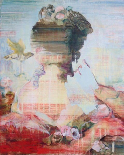 'Falbala', 2017, oil on linen, 50 x 40 cm
