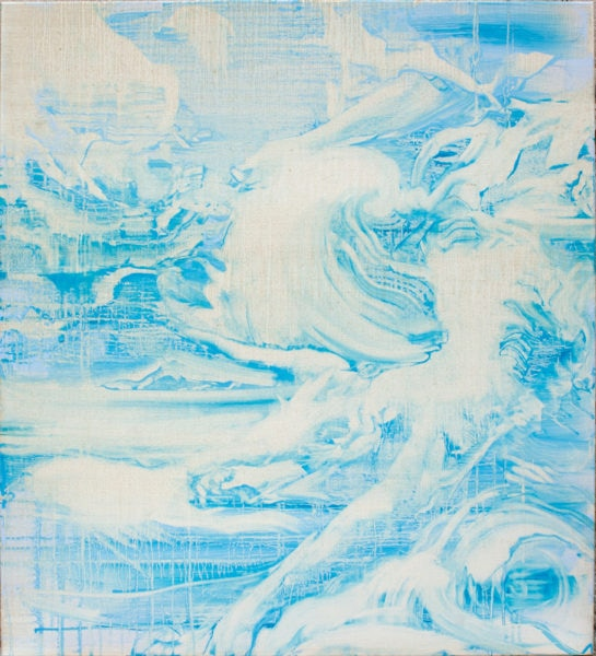 'Ocean', 2017, oil on canvas, 110 x 100 cm