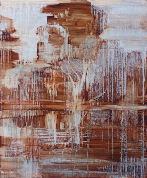 'River Gum', 2017, oil on canvas, 112 x 92 cm