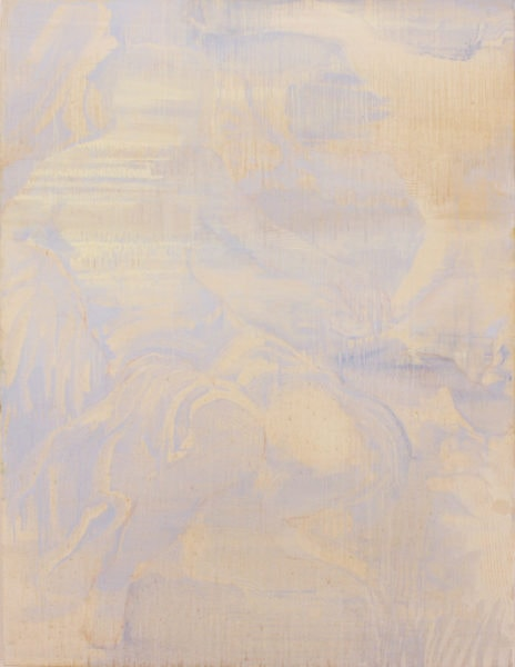'Pale ultramarine', 2017, oil on canvas, 153 x 118 cm