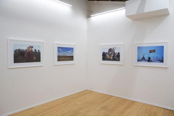 Exhibition shot of 'Standing Rock' at DOMINIK MERSCH GALLERY in April 2017.