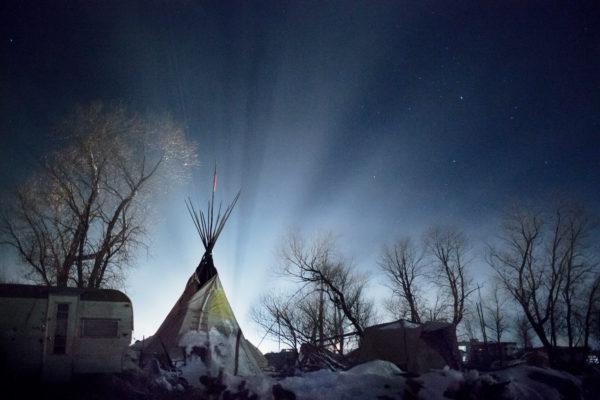 'Oceti Sakowin Camp, North Dakota, USA – December 5th, 2016', 2017, archival pigment print, unframed: 37 x 56 cm, edition of 7 + 1 a.p.<br />