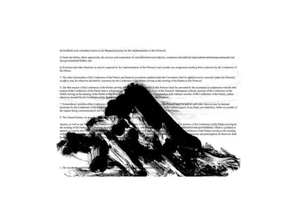 'Kyoto Protocol 22', 2015, silk screen on paper, 36 x 48 cm<br />