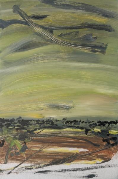 'Road 1', 2017, oil on dibond, 61 x 41cm