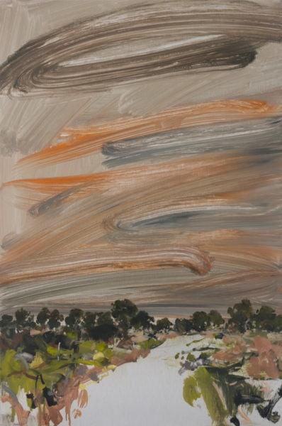'Road 2', 2017, oil on dibond, 61 x 41 cm