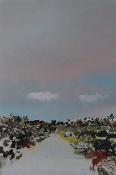 'Road 3', 2017, oil on dibond, 61 x 41 cm