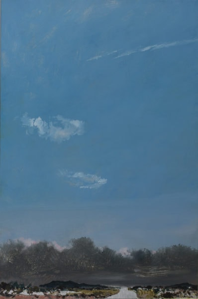'Road 5', 2017, oil on dibond, 61 x 41 cm