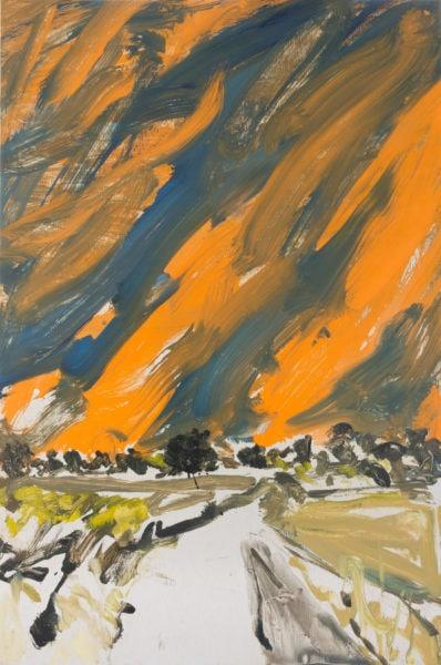 'Road 6', 2017, oil on dibond, 61 x 41 cm
