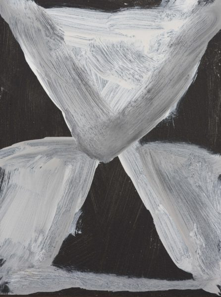 'White Breath (2)', 2018, 30 x 40 cm, acrylic on board