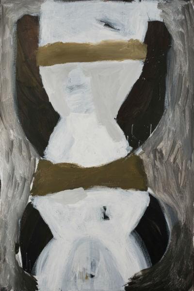 'totemic emptiness', 2017, acrylic on board, 180 x 122 cm