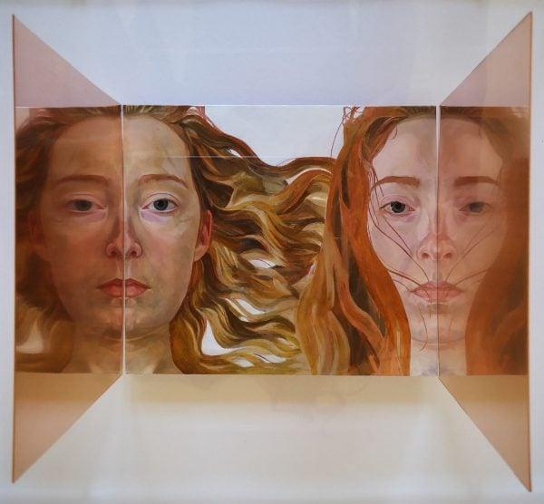 'Janus', 2018, oil on copper 30 x 28 x 18 cm
