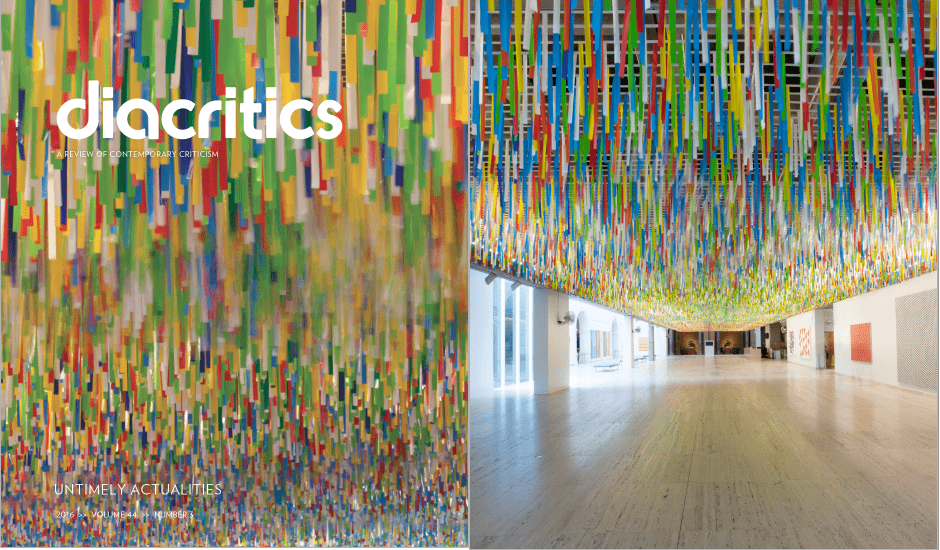 Nike Savvas in Diacritics Journal