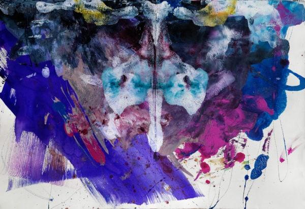 'Plants and Murders II', 2016-17, mixed media, 57 x 77 cm