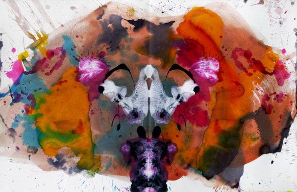 'Plants and Murders I', 2015-16, mixed media, 66 x 102 cm
