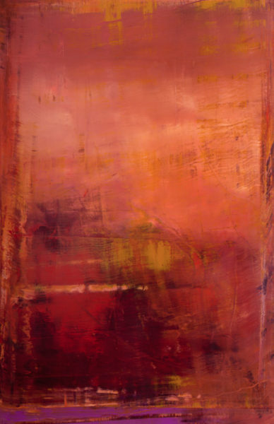 'Red Run', 2008-9, oil on canvas, 215 x 140 cm