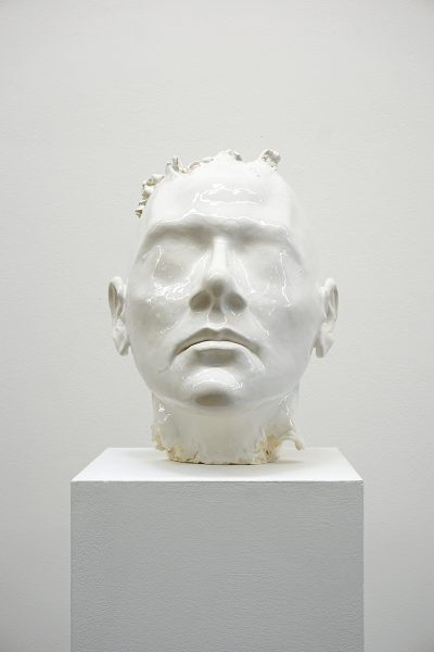 Gary Deirmendjian, 'breathe - whitewash', 2018, ceramic, glaze, 35 x 33 x 27 cm