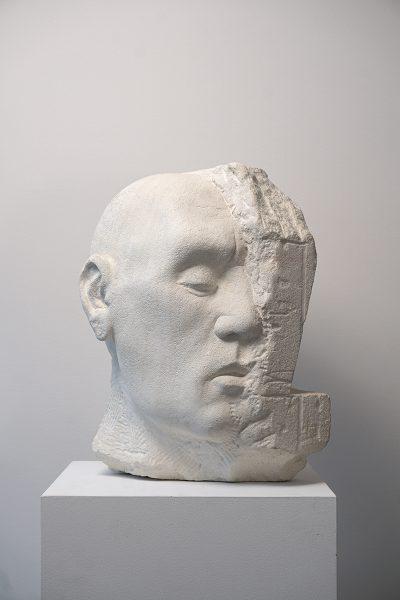 Gary Deirmendjian, 'stone head', 2015, limestone, 38 x 24 x 29 cm