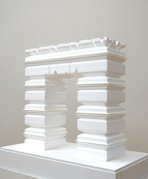 Gary Deirmendjian, 'ECG arch', 2009, polystyrene, plinth, perspex box, 59 x 58 x 22 cm