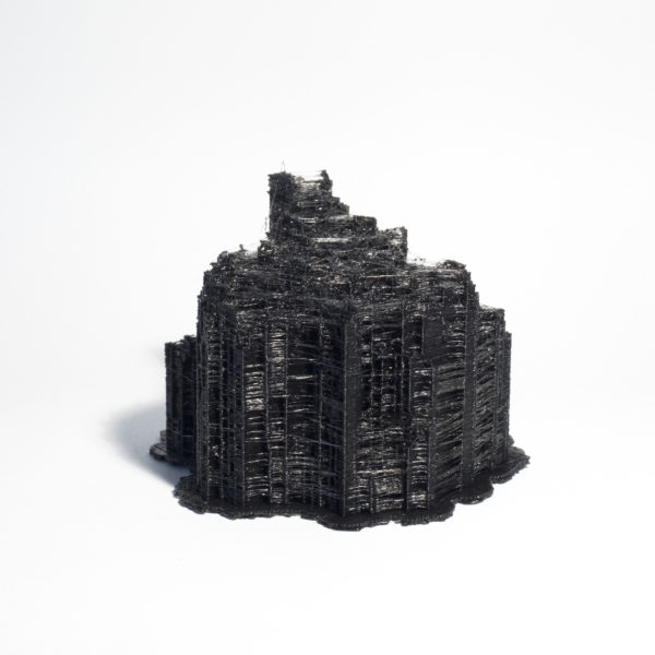 'City Constructed from Sleeping Brain Activity Data (no.19)', 2015, 3D printed PLA plastic, data, edition of 3 + 1AP