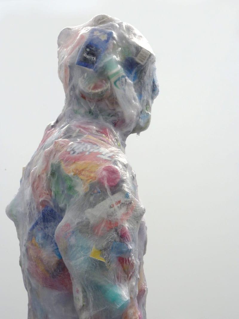 Gary Deirmendjian, 'kouros - cold power', 2014-16, salvaged non-organic rubbish; resin & other media, 195 x 60 x 65cm
