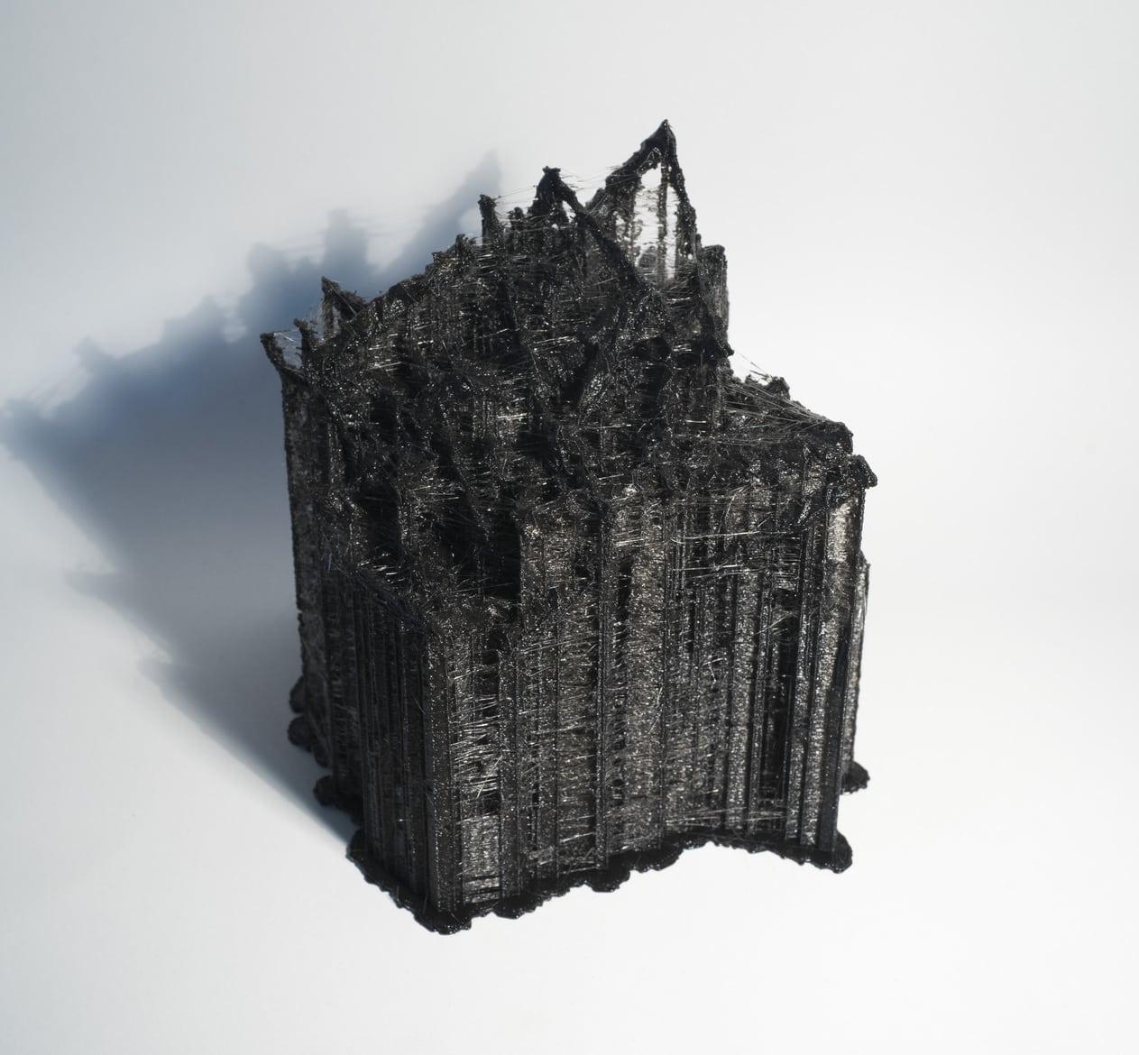 'Metamodel.dna (lactobacillius rhamnosus ~ homo sapiens)', 2015, 3D printed PLA plastic, DNA data, 16 x 12 x 12 cm, edition of 3 + 1AP