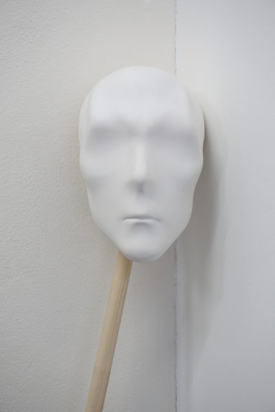 Gary Deirmendjian, 'watchful', 2018, unique slip cast ceramic and timber dowel, 18 x 28 x 17 cm