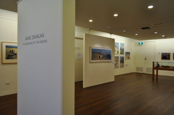 Installation view, Entrance to Rubbio Gallery<br />