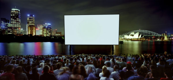 Open Air Cinema, 1999, Type C print 115cm x 242cm Manly Art Gallery & Museum Collection